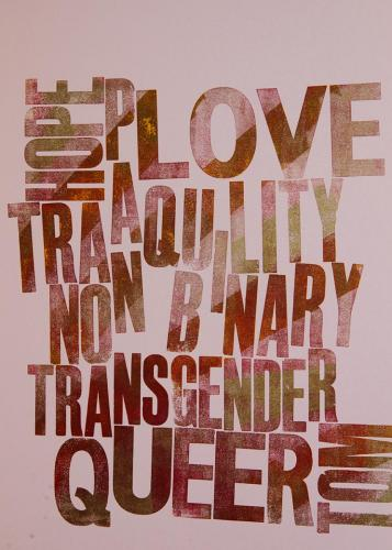 HOPE LOVE TRANQUILITY NON BINARY PAN TRANSGENDER QUEER